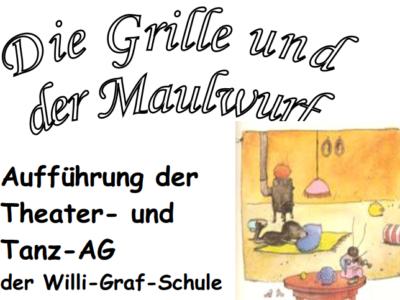 """Aktuelles Theaterstück """"Die Grille und der Maulwurf"""""""